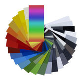 Spread color chart — Stock Photo