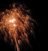 Dynamic pyrotechnics — Stock Photo