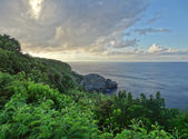 Coastal scenery at Guadeloupe — Stock Photo