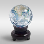 Crystal globe — Stock Photo