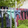 Clothesline and clothes — Stok fotoğraf