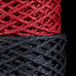 Stock Photo: Black and red twine