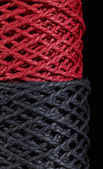 Black and red twine — Stok fotoğraf