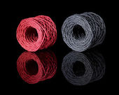 Grey and red twine — Stok fotoğraf