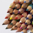 Colored pencil tips — Stock Photo #28857701