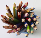 Colored pencil tips — Stock Photo