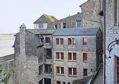 En la abadía de mont saint michel — Foto de Stock