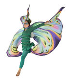Dancing butterfly woman — Stock Photo