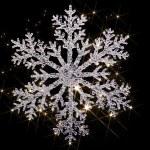 Twinkling snowflake — Stock Photo