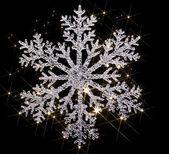 輝く雪の結晶 — ストック写真