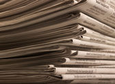 Lots of newspapers — Stock Photo