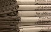 Sacco di giornali — Foto Stock