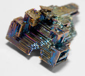 Bismuth crystal — Stock Photo