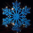 Photo: Twinkling blue snowflake