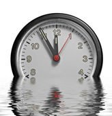 Sinking frontal clock face — Stock Photo