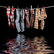 Clothesline and sox — Stock Photo #41050699