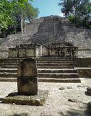 Temple detail at Calakmul — Stock Photo