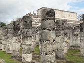 Temple des guerriers à chichen itza — Photo