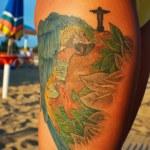 Tattoo symbols of Rio de Janeiro Brazil — Stock Photo #30297849