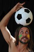 Eu amo futebol — Fotografia Stock