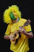 Appassionato di calcio brasiliano — Foto Stock