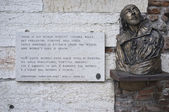 William Shakespeare in Verona — Stock Photo