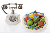 Calling nutritionist — Stock Photo
