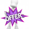 3d offer — Stock Photo