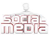3d social media — Stock Photo