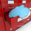 3d image file cabinet and cloud — Stock Photo