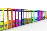Many archive folders on white isolated background. 3d — Stock Photo