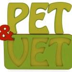 Pet and vet 3d text — Stock Photo #40462603