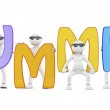 3d render of a summer word and characters — Stock Photo #47382765