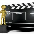 Film award and clapperboard — Stock Photo #48608873