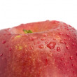 Stock Photo: Apple with droplets close up
