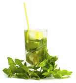Alcoholic drink of Mojito and mint — Stock Photo