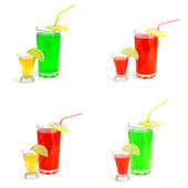 Collage of drinks — Stock Photo