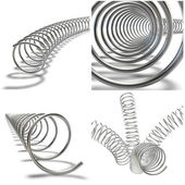 Collage. Metal springs — Stock Photo
