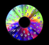 Abstract disc with water droplets — Stock Photo