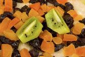 Ovesná kaše s sušené ovoce — Stock fotografie