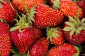 De textuur van aardbeien — Stockfoto