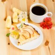 Stock Photo: Apples pie on plate