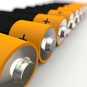 Lots of batteries — Stock Photo