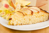 Apples pie on a plate — Stock Photo