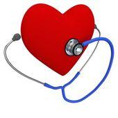 Heart listening by a phonendoscope — Stock Photo