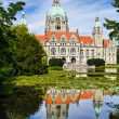 Royalty-Free Stock Photo: City Hall of Hannover, Germany in summer
