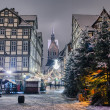 Marktkirche and old city of Hannover, Germany in the winter — Stock Photo