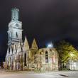 Foto Stock: Aegidienkirche at night, Hannover, Germany