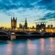 Big Ben and the Palace of Westminster at sunset, London, UK — Stock Photo #18331307