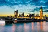 Big Ben and the Palace of Westminster at sunset, London, UK — Stock Photo
